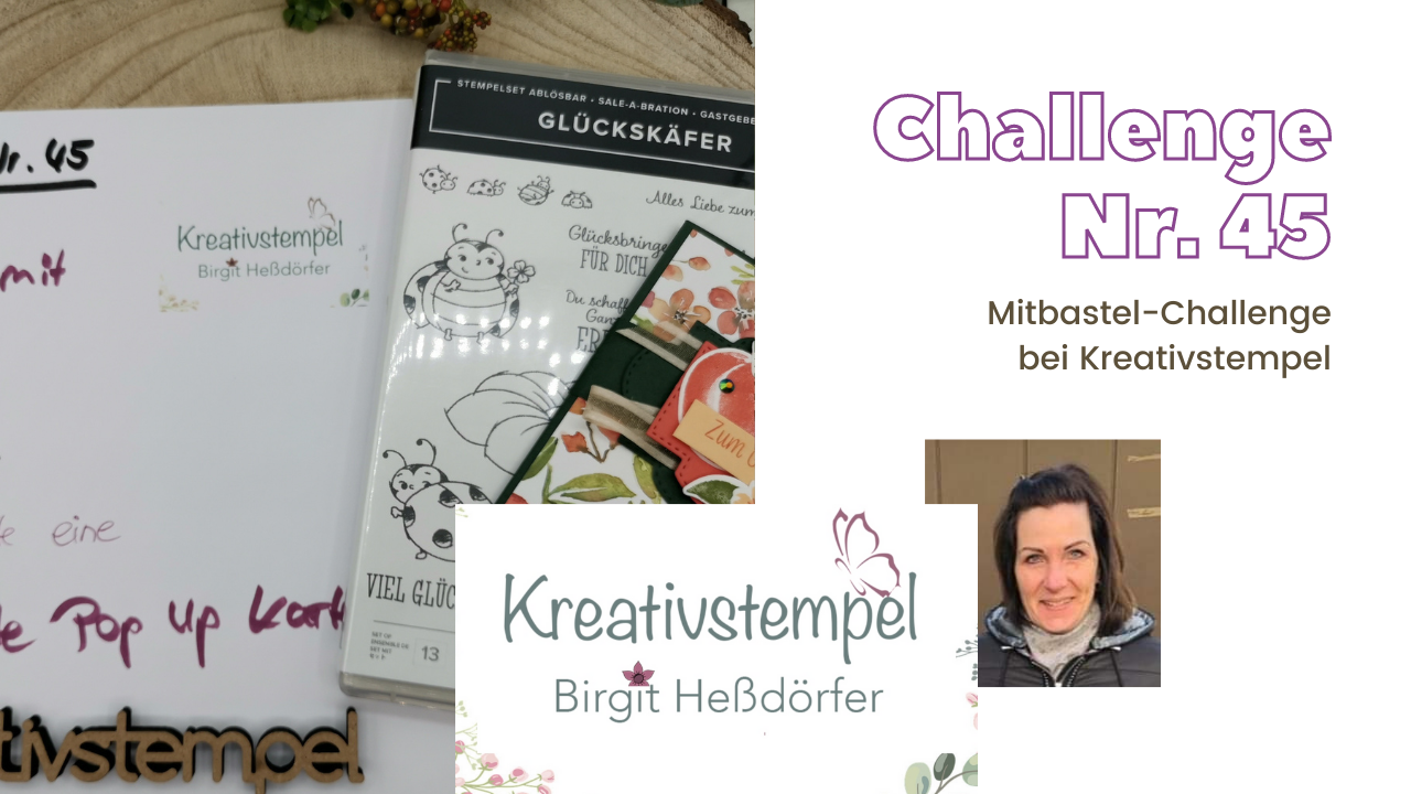 Mitbastel-Challenge Nr. 45 Basteln mit Kreativstempel