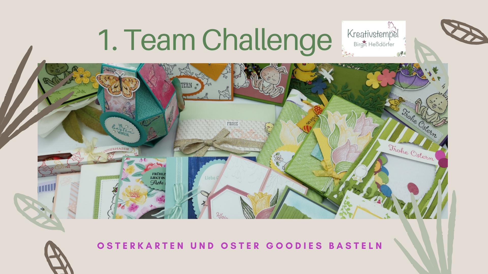 1. Team Challenge Kreativstempel