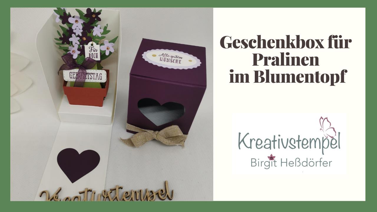 Geschenkbox für Pralinen im Blumentopf
