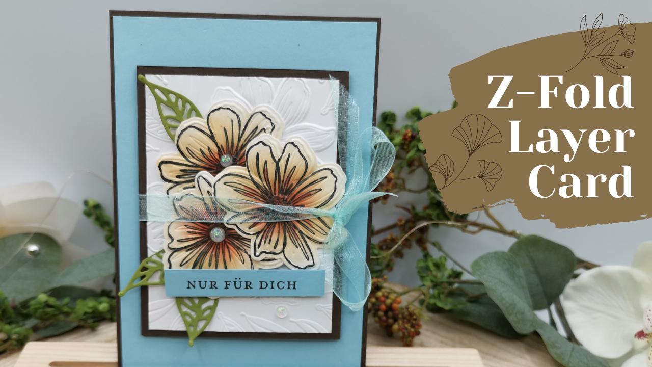 Z-Fold Layer Card Art in Bloom