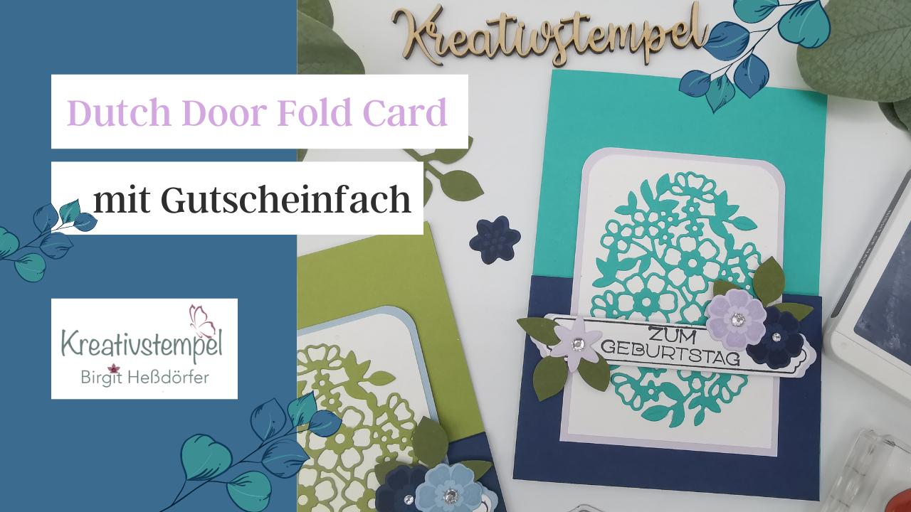 Dutch Door Fold Card mit Gutscheinfach