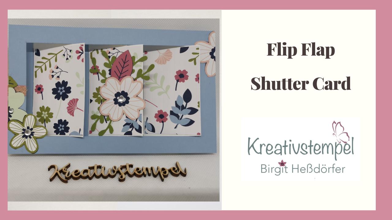 Flip Flap Shutter Card Papierblumen