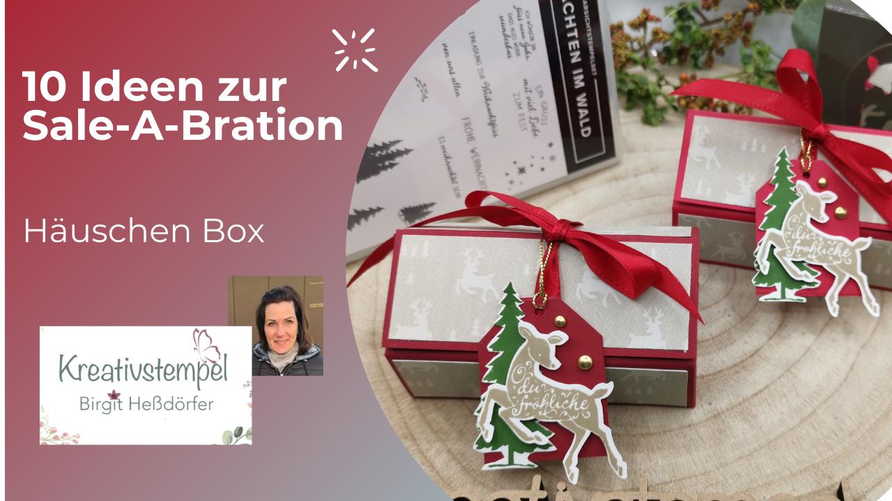 Häuschen Box Weihnachtliche Prints