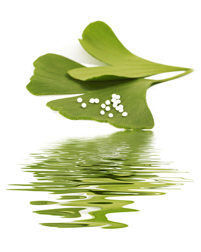 Alternative remedies - Ginkgo leaf with globules
