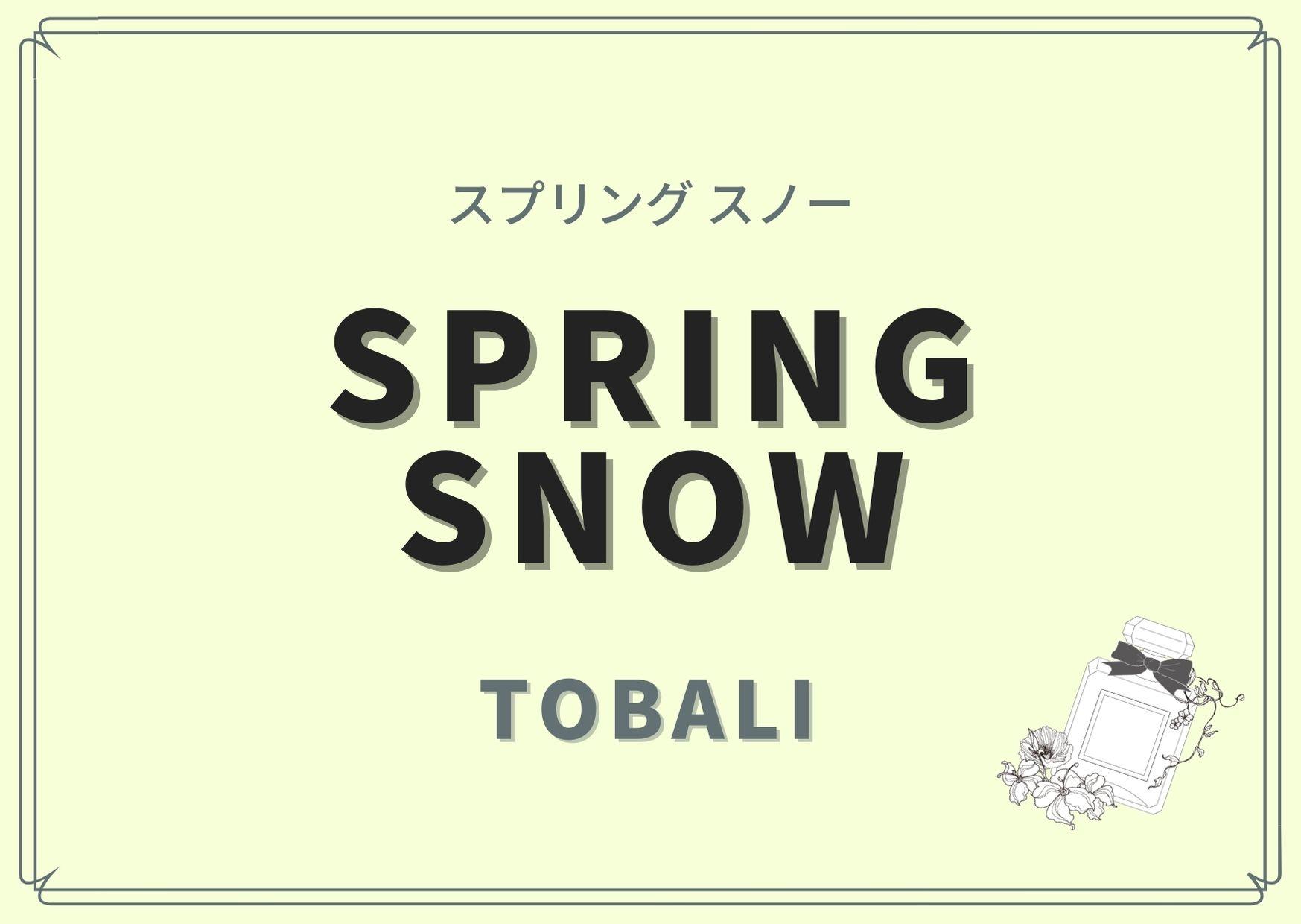 SPRING SNOW(スプリング スノー)/TOBALI(トバリ)