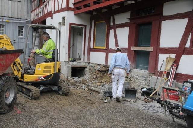 Aushubarbeiten hinter dem Hirschen (20. Mai 2015)