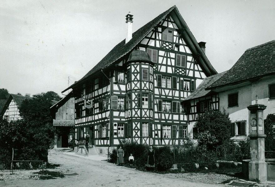 1921, Gesamtansicht Haus zum Hirschen