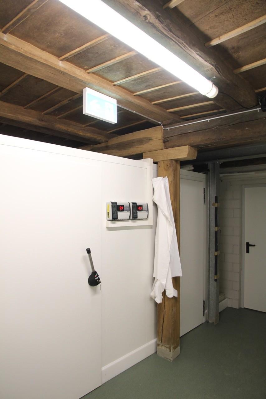 Viel Stauraum in den energiesparenden Kühlzellen.