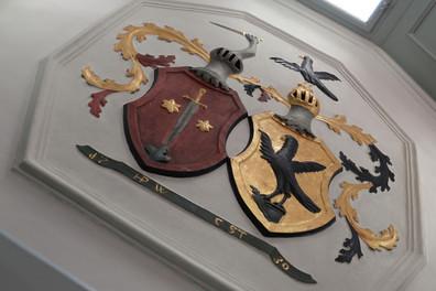 Wappen im Gasthof Hirschen Oberstammheim