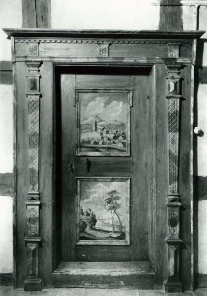 1962, Tür im Haus zum Hirschen, 1. Stock