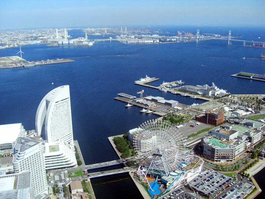 横浜ランドマークからの眺望