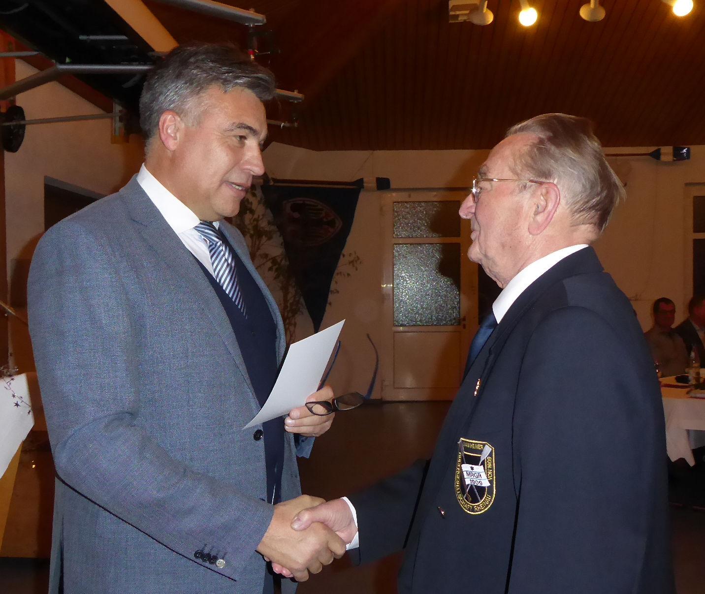 Karl Fischer, seit 70 Jahren Mitglied