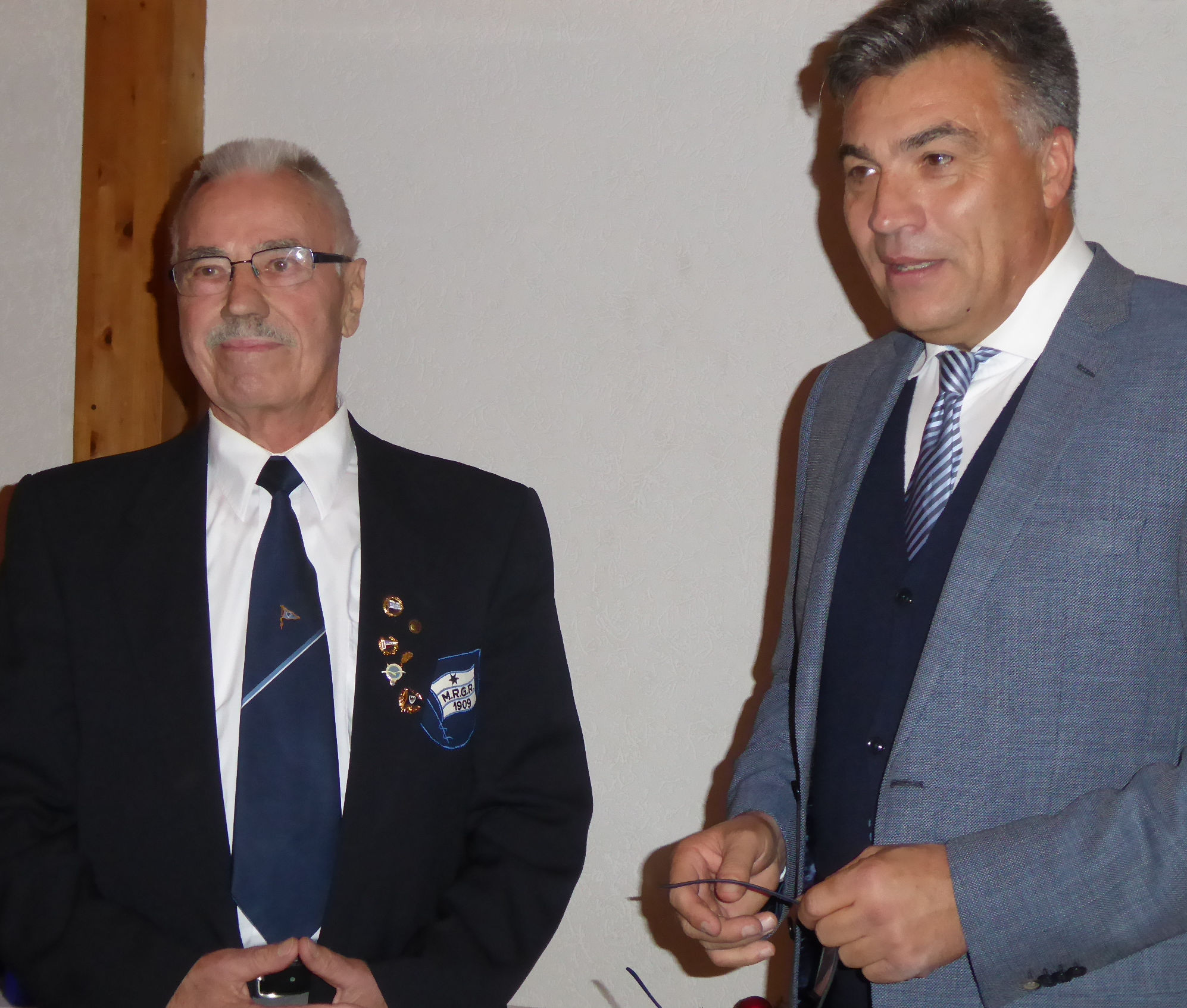 Peter Lenort - 50 Jahre Mitglied bei der MRGR und im DRV