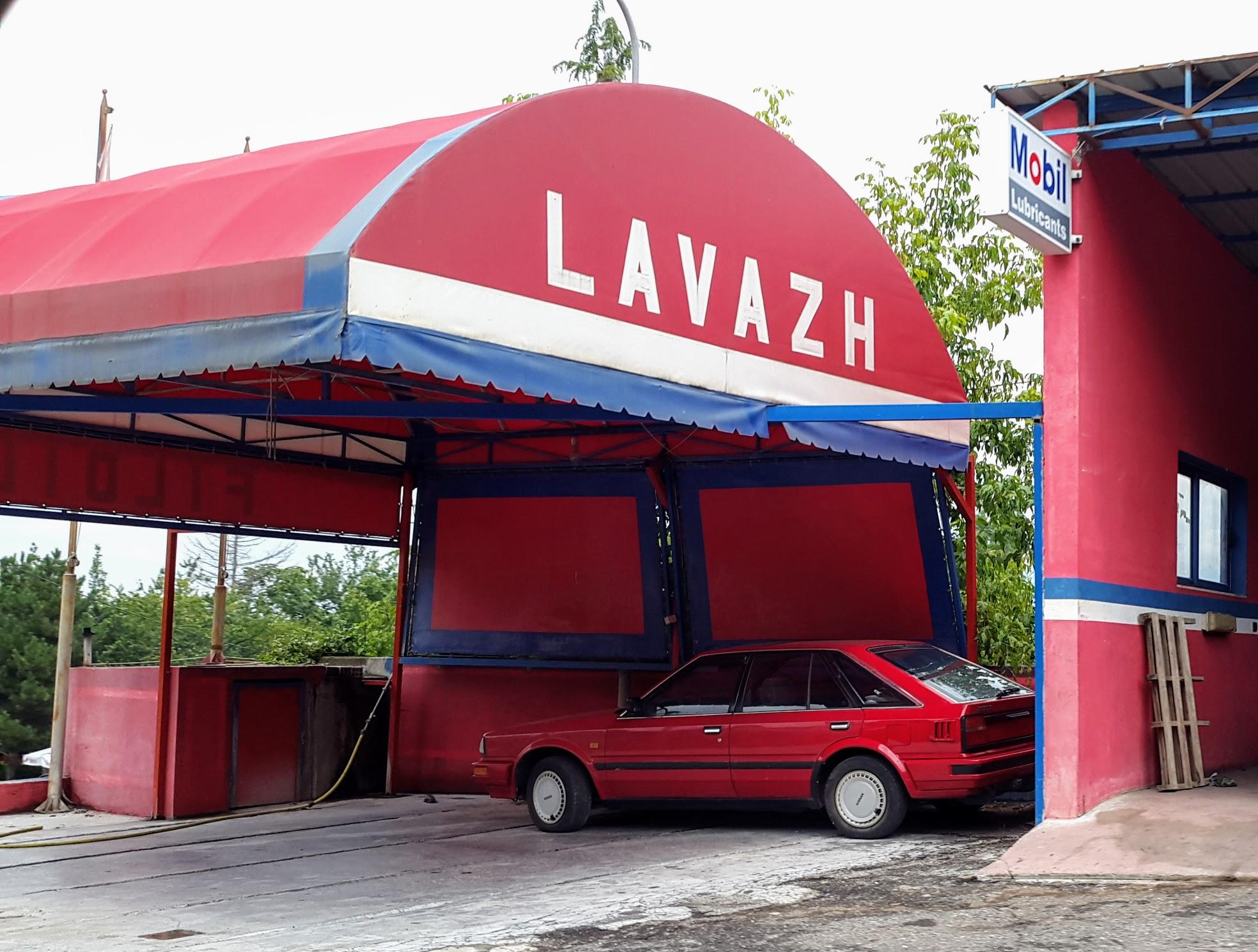 Lavazh gibt es auch in Albanien, bedeutet aber Autowaschanlage