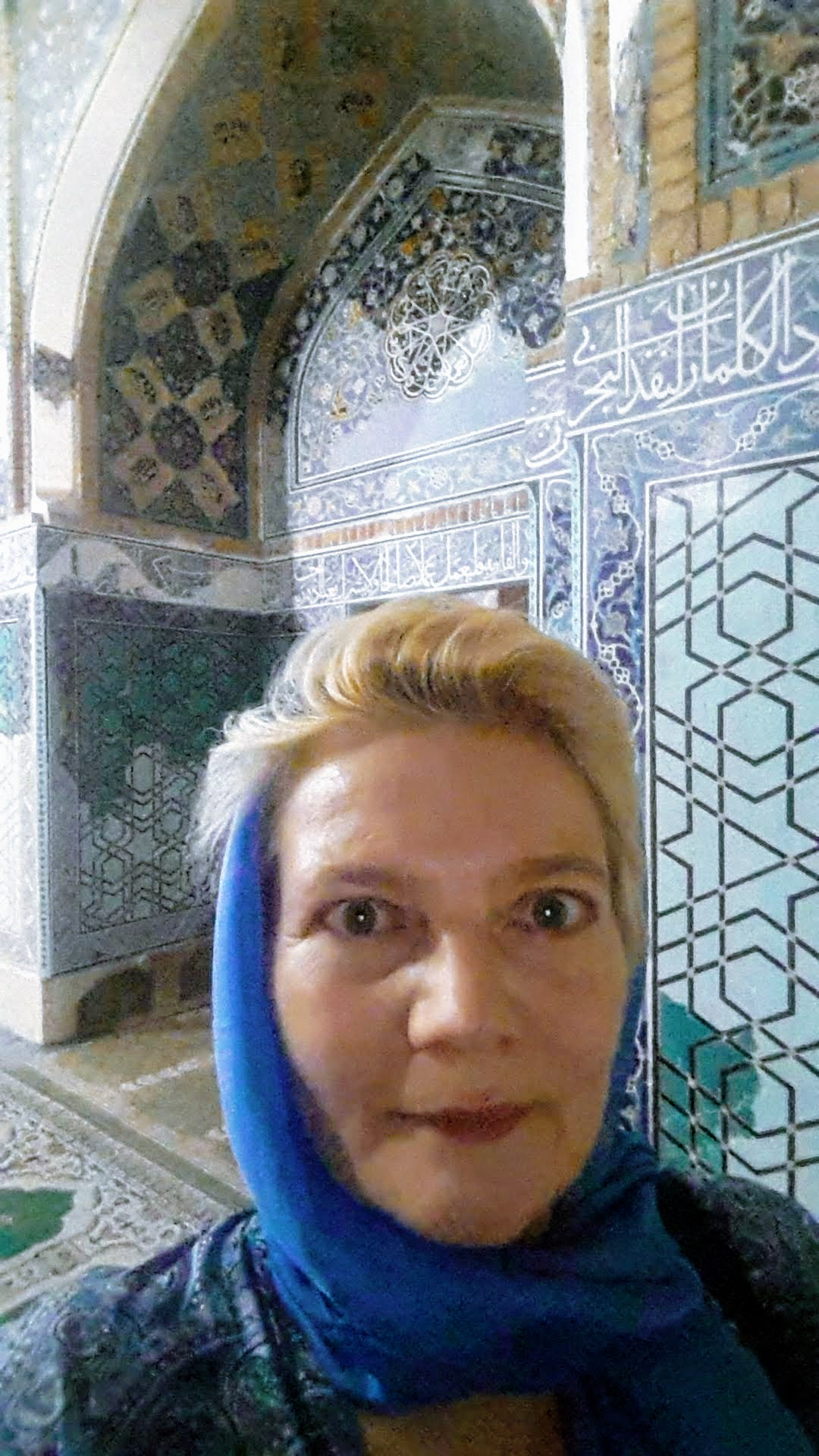 In der blauen Moschee von Täbriz, Iran