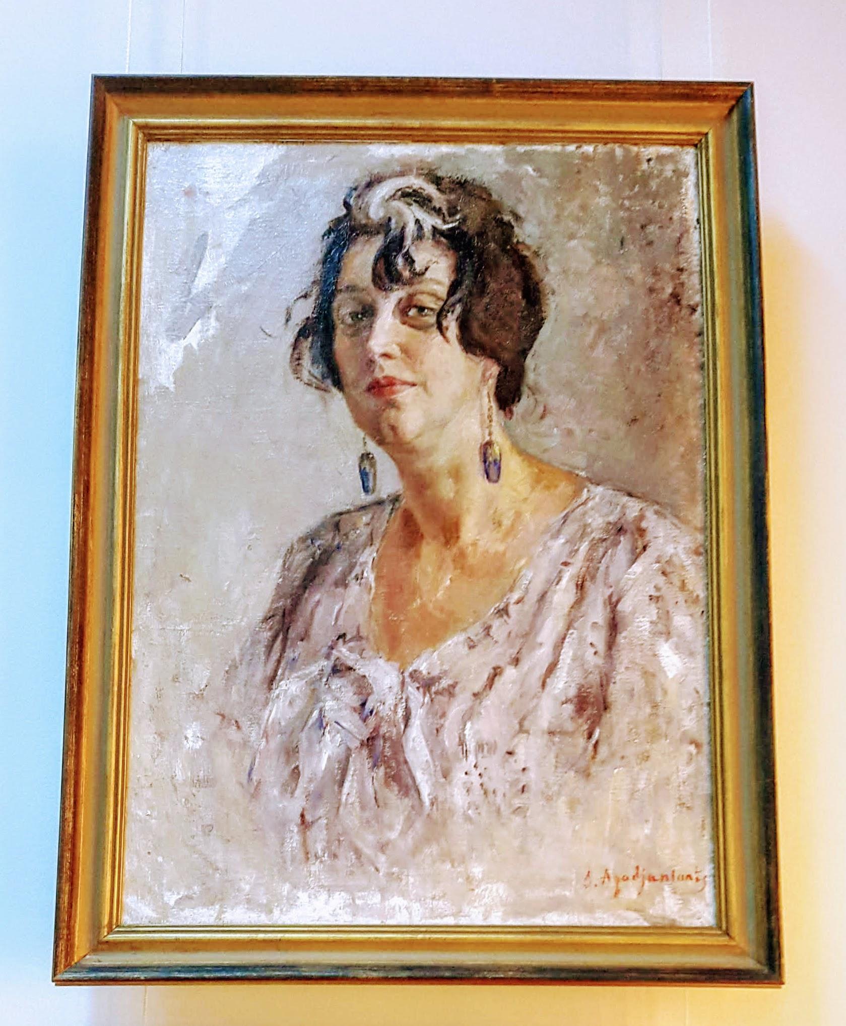 Porträt der Schauspielerin Baronkina von Stepan Gahajanian, 1935