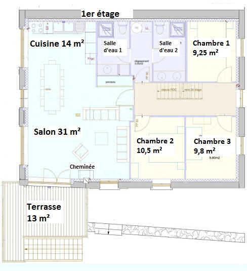 1er étage : plan