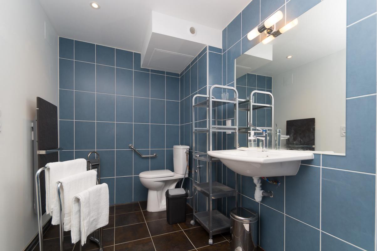 Gîte de Belledonne 2 : la salle de bain / WC adaptée PMR