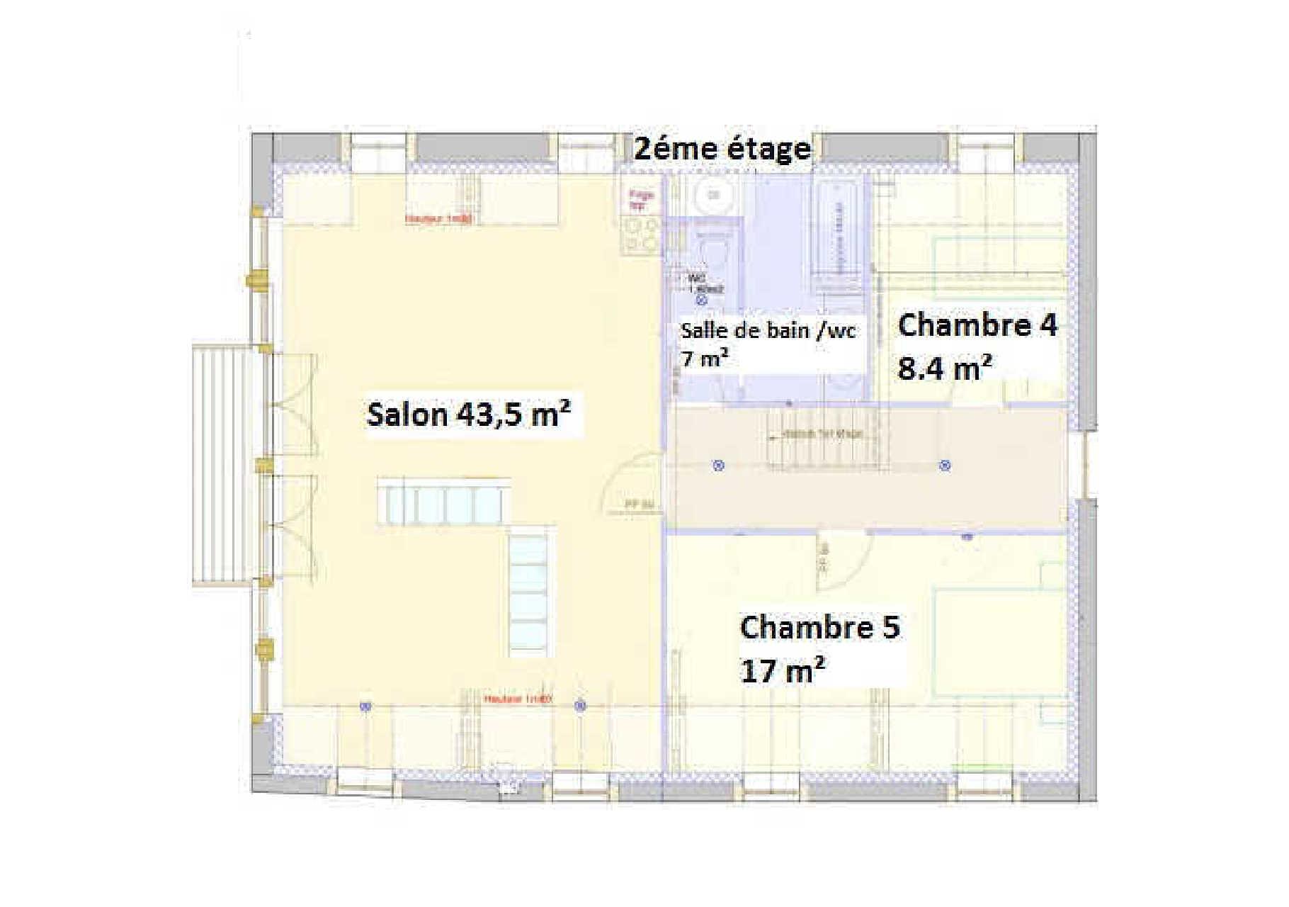 Gîte de Belledonne 1 : Plan du deuxième étage