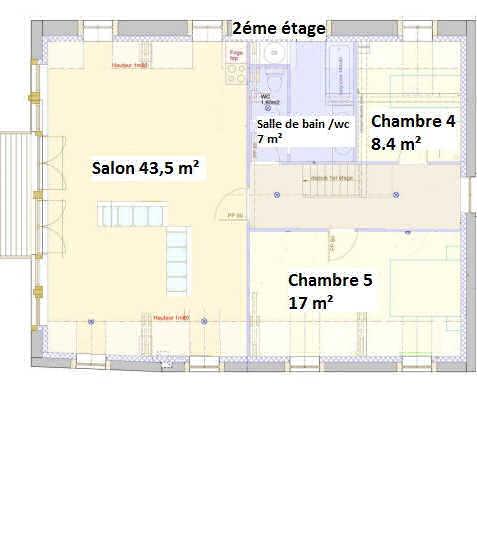 2éme étage : plan