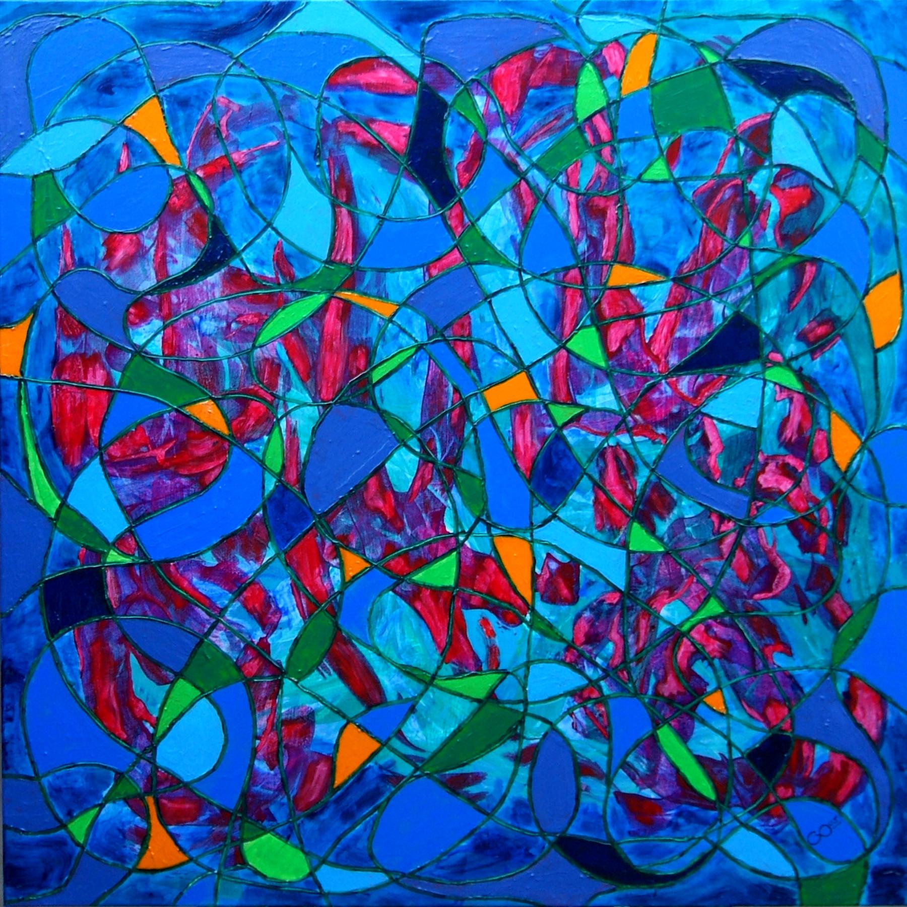 """""""Clownery"""" - Acrylic on canvas - 100 x 100 cm"""