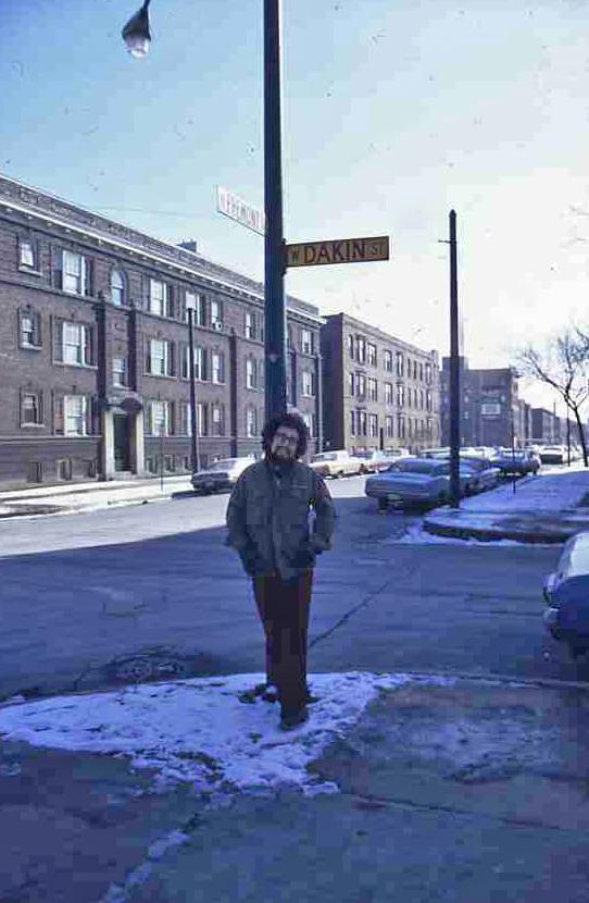 Bruce près de chez lui en 1971. Photo André Fanelli.