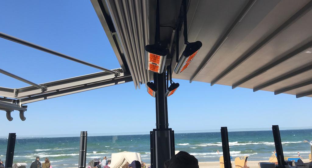 Die Heizstrahler sind auch für den Einsatz in der salzhaltigen Luft an der Küste geeignet