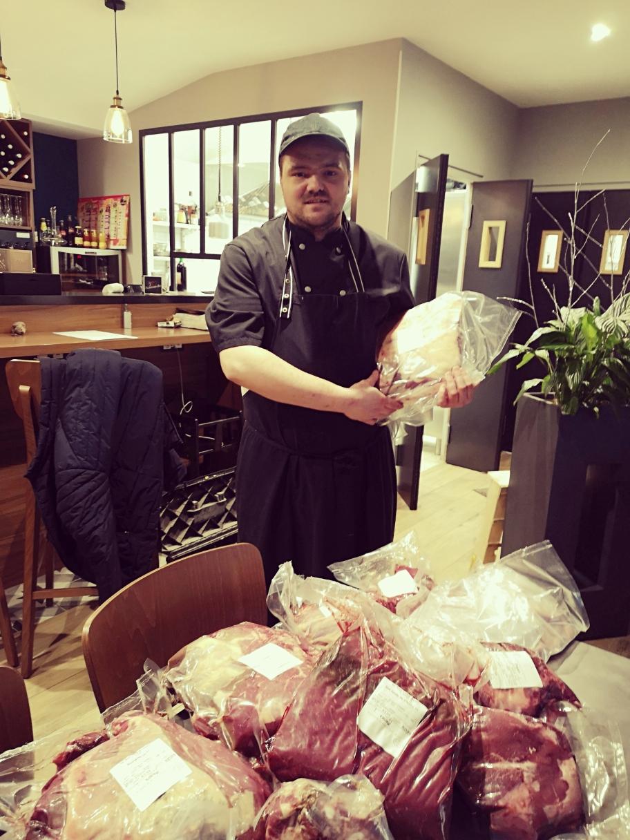 Retrouvez notre viande préparée par le chef Jérémy Domingo du restaurant La Table de Fernand à Argentan (61200).