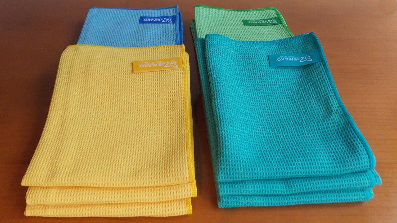 Trockentuch mittel - gelb, blau, grün, türkis