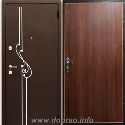 двери ковка + ламинат.