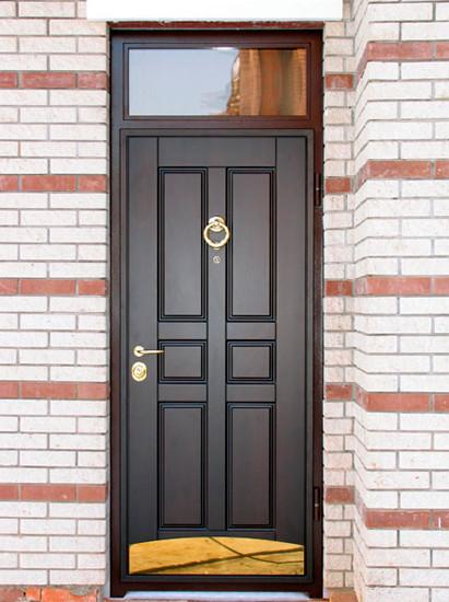 уличные входные двери с окошком