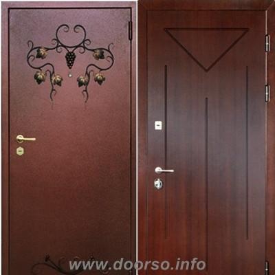 двери ковка + декаротивная панель