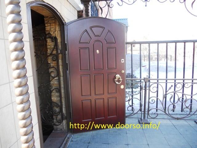 дверь серии МДФ в арочном исполнении.