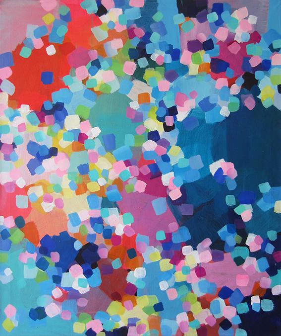 ohne Titel, 110 x 90 cm, Acryl auf Leinwand, 2017