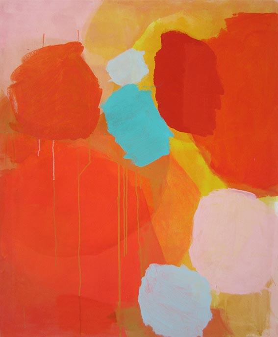 ohne Titel, 110 x 90 cm, Acryl auf Leinwand, 2016