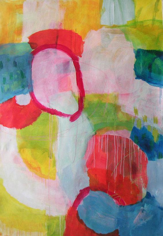 ohne Titel, 210 x 145 cm, Mischtechnik auf Papier, 2003