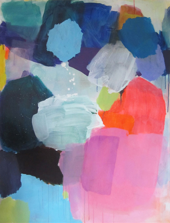 ohne Titel, 145 x 110 cm, Acryl auf Leinwand, 2015