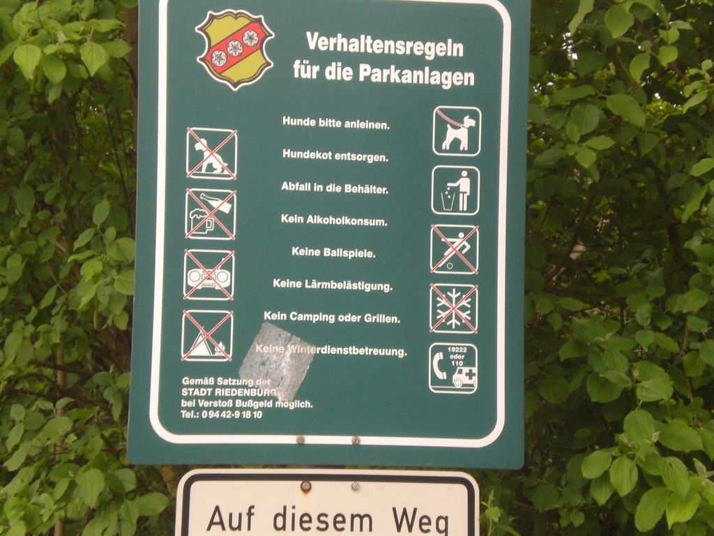 Ordnung muss sein in Riedenburg                                                                                          Fot: KK