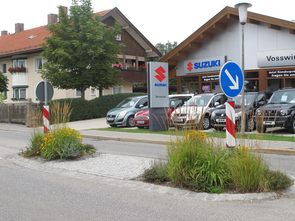 Pflanzenschmuck bei der Fußgänger-Querung ...