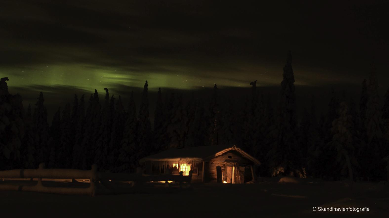 Nordlicht in Schwedisch Lappland