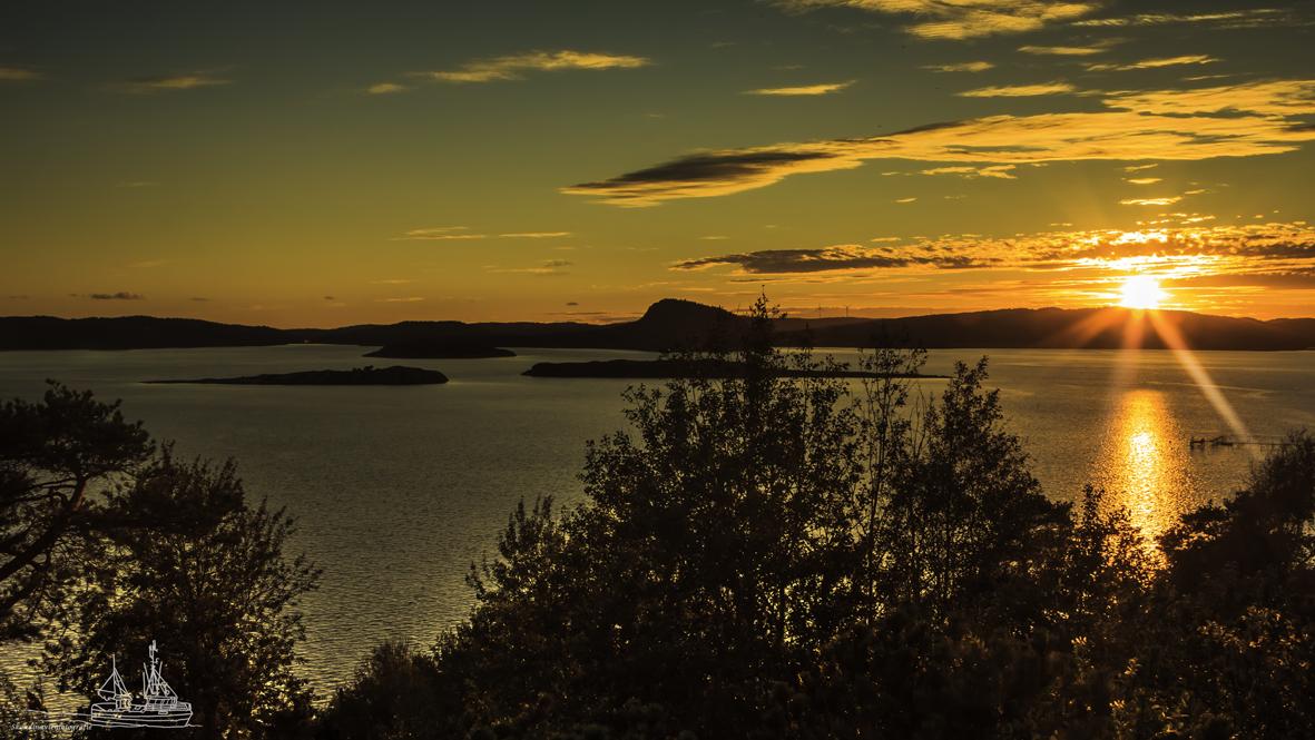 Sunset bei Uddevalla, Provinz Bohuslän, Schweden