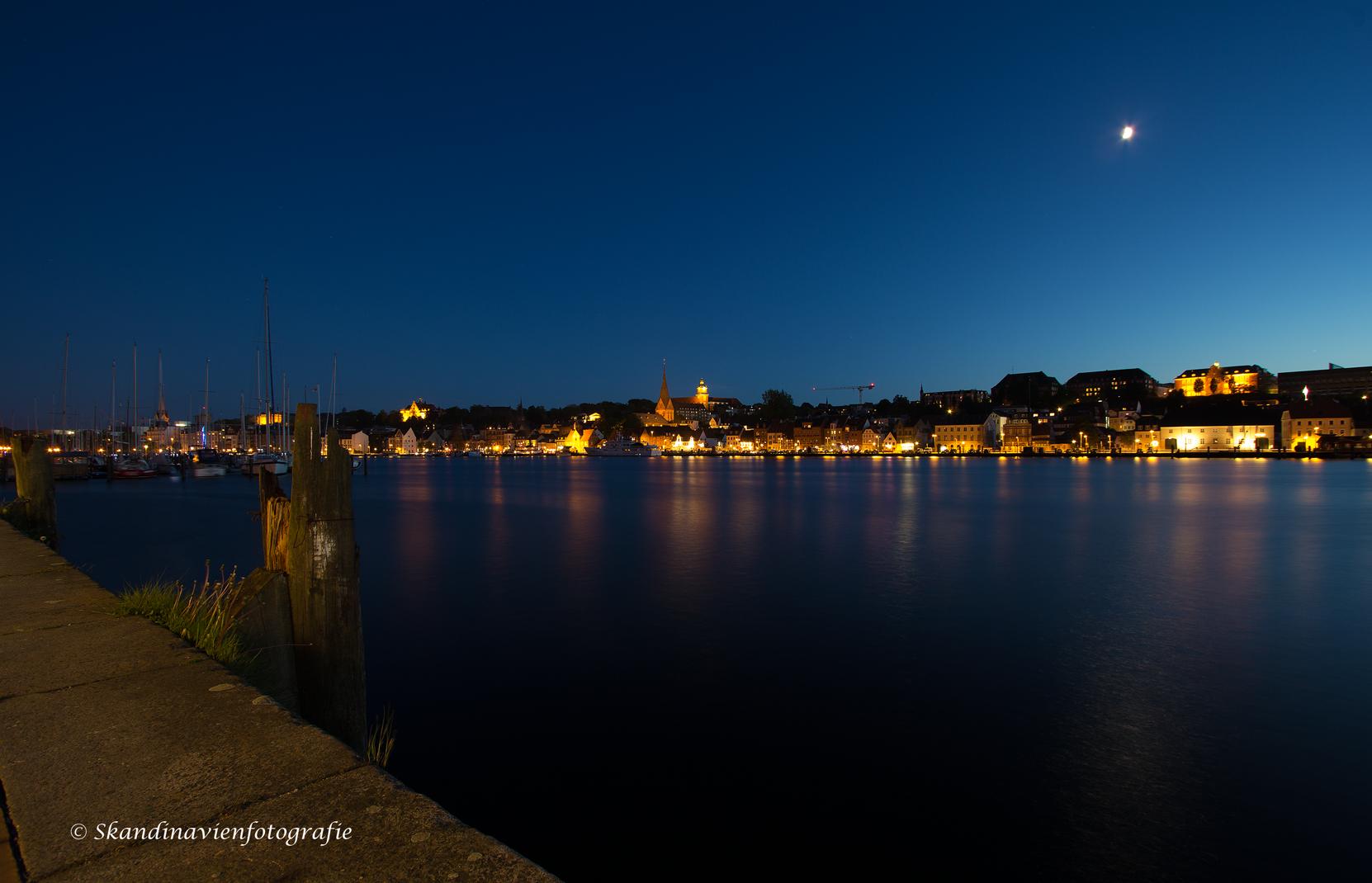 Flensburg by night