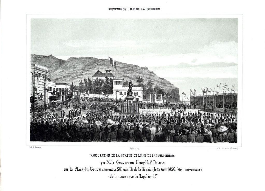 Inauguration de la statue de Mahé de La Bourdonnais