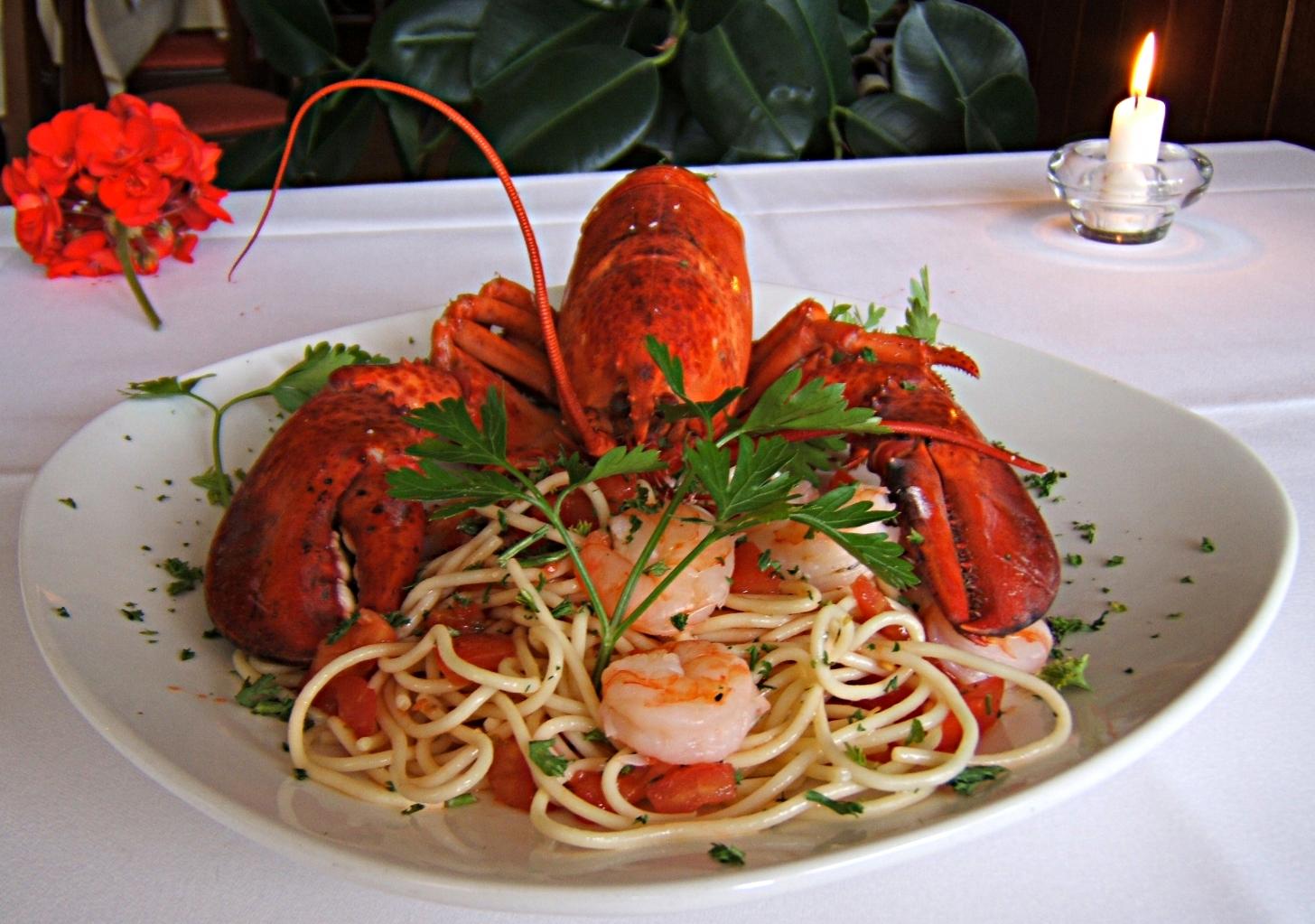 Spaghetti con astaco (Hummer)