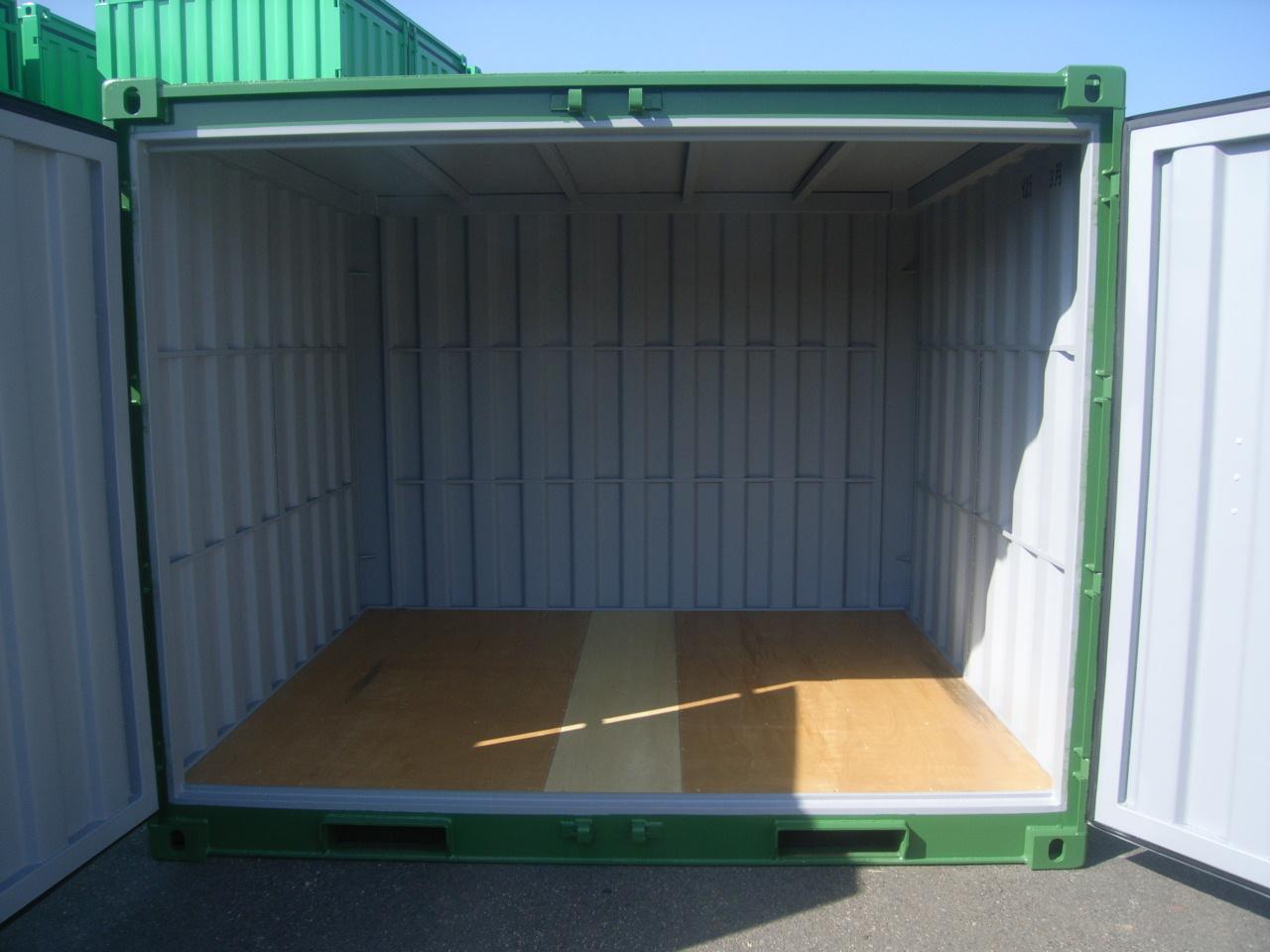 10フィートドライコンテナ(内観 木材床)