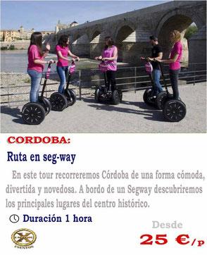 ruta en segway Córdoba