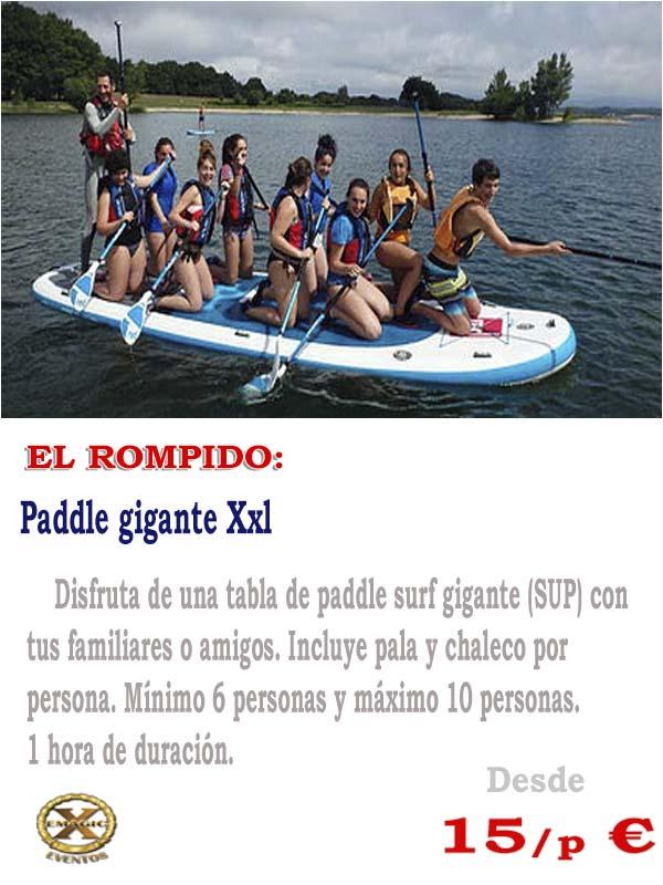 alquiler paddle gigante Huelva