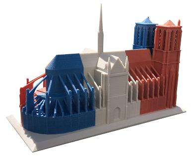 3D Druck Römisch katholische Kirche Notre-Dame in Paris