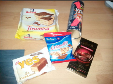 Meine Testobjekte, ein Foto vom unzermatschten Tiramisu folgt noch! :)