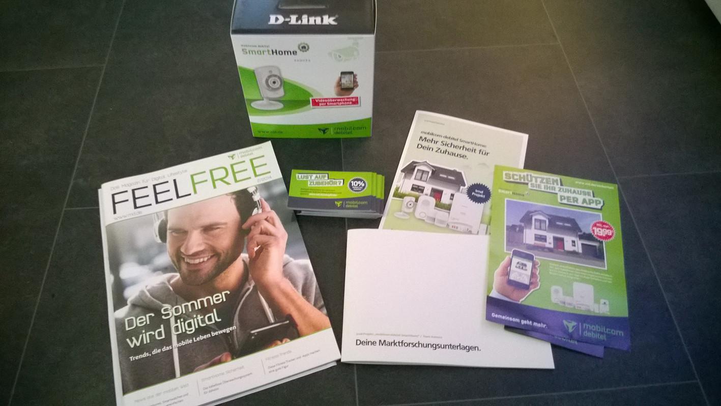 Paketinhalt - mobilcom debitel Smarthome Kamera